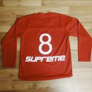 Red men's Supreme long sleeve